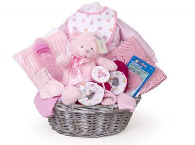 large baby gift basket, gift ideas for new baby