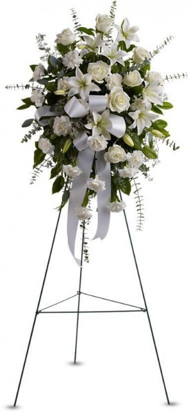 sympathy flowers, memorial flowers Toronto, flowers for a wake Markham, tribute flowers on easel