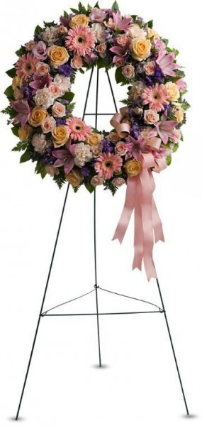 sympathy wreath, funeral flowers, tribute wreath, floral wreath