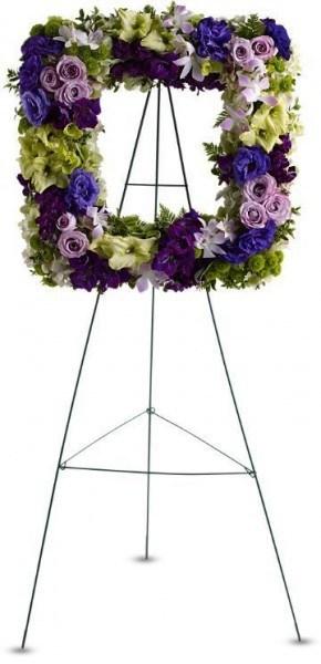 memorial wreath, wake wreath, funeral flowers, sympathy flowers, florist Toronto