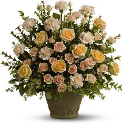 funeral flower arrangements Toronto, sympathy flowers GTA, tribute roses, memorial floral bouquet