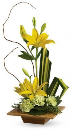 contemporary floral arrangements, Zen floral arrangement, floral gift ideas