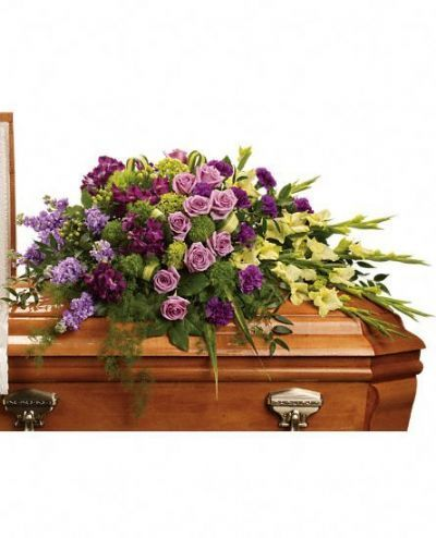 funeral flowers, casket spray, flowers for funeral