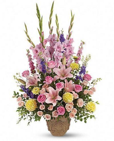 tribute bouquet, funeral bouquet, sympathy flowers
