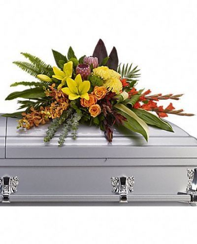 casket spray, funeral flower arrangements, sympathy flowers, casket flowers