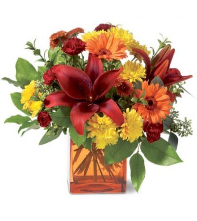 Autumn Flowers, Asiatic Lilies, gerberas