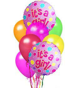It's A Girl Balloon Bunch