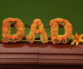 sympathy flowers, DAD Memorial Frame, funeral floral frame for father