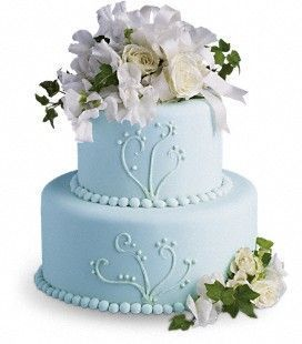 Sweetpea & Roses Cake Decoration