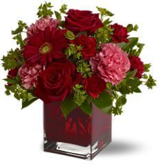 anniversary gift, anniversary floral arrangements, anniversary flowers, Valentines Day, red roses, pink carnations