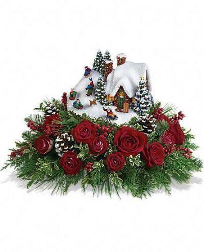 Thomas Kincade's Sleigh Ride Bouquet